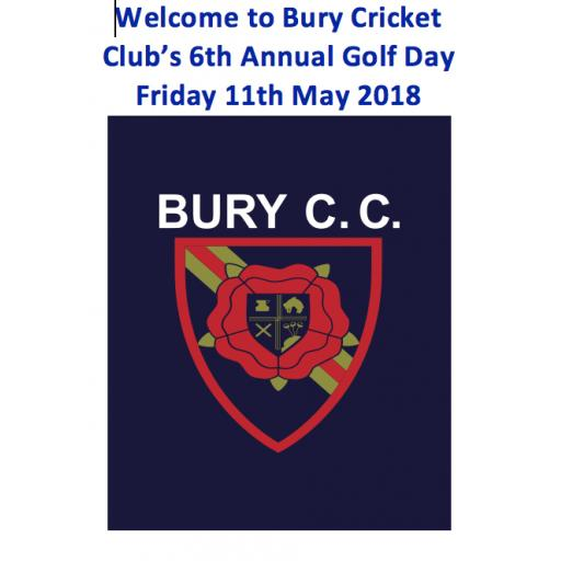 6th Annual Bury Cricket Club Golf Day