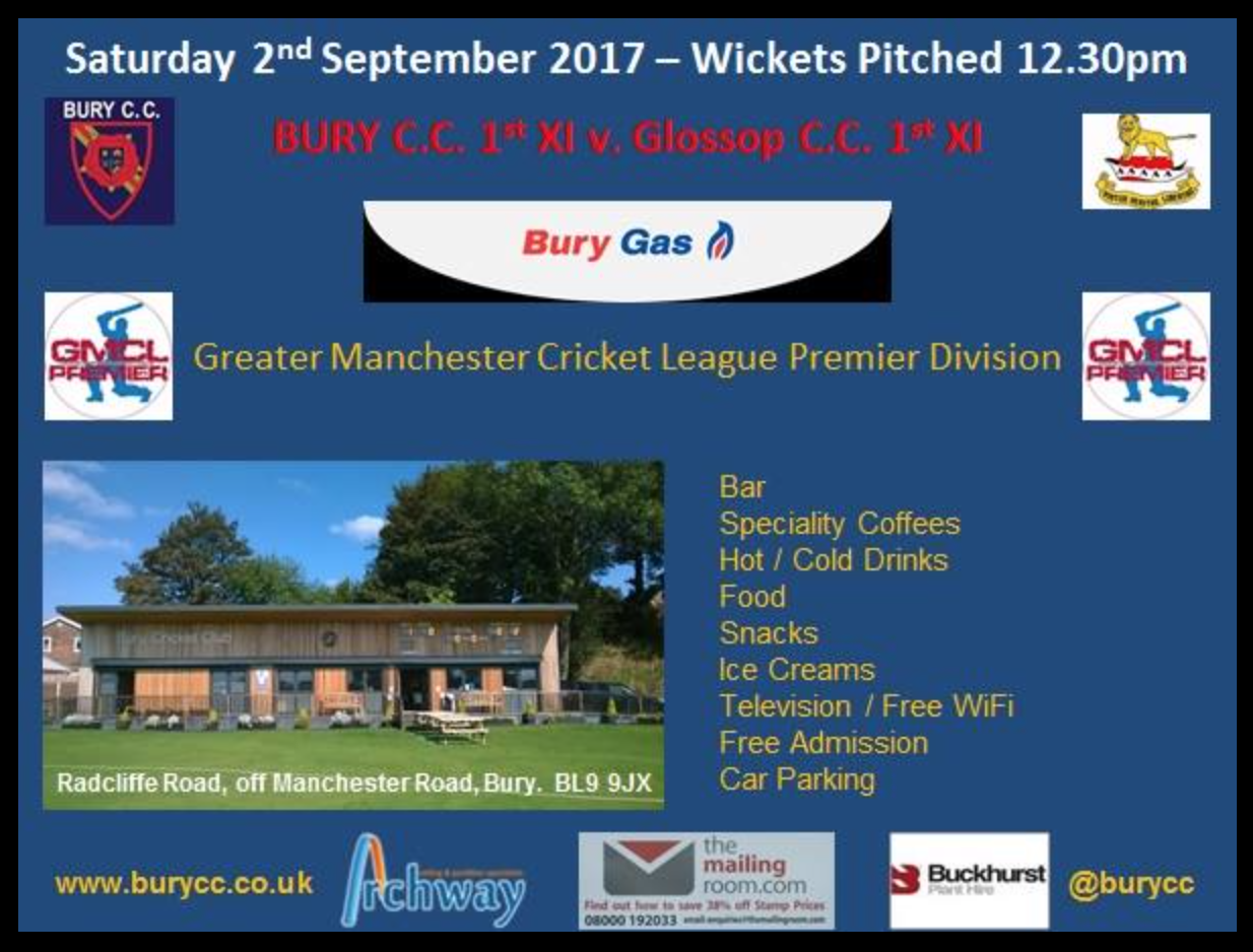 Last home 1st XI game of the season this weekend.