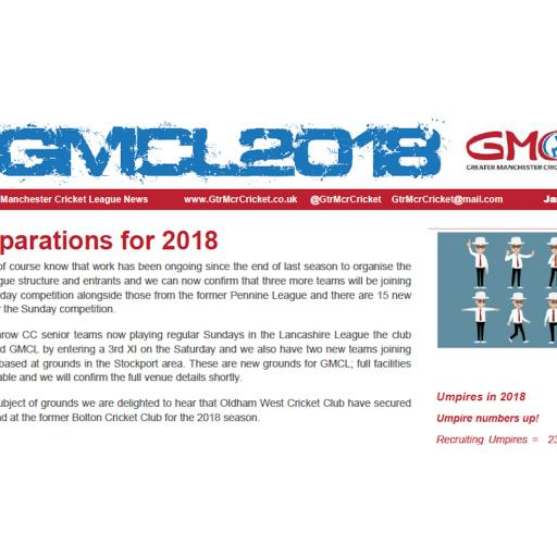 Latest GMCL January 2018 Newsletter