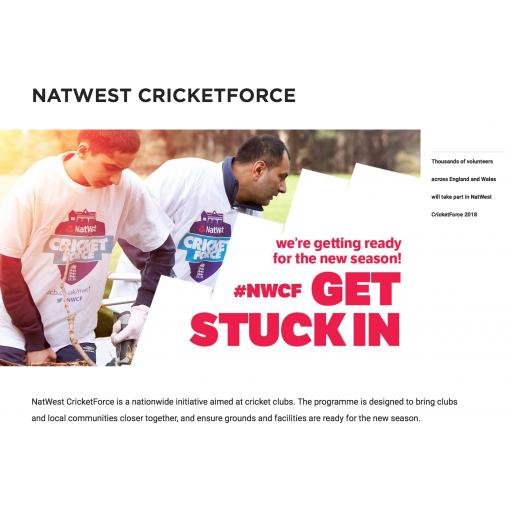 Cricketforce and Registration Day - Sunday 8th April