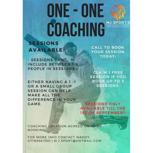 One to One Coaching Sessions