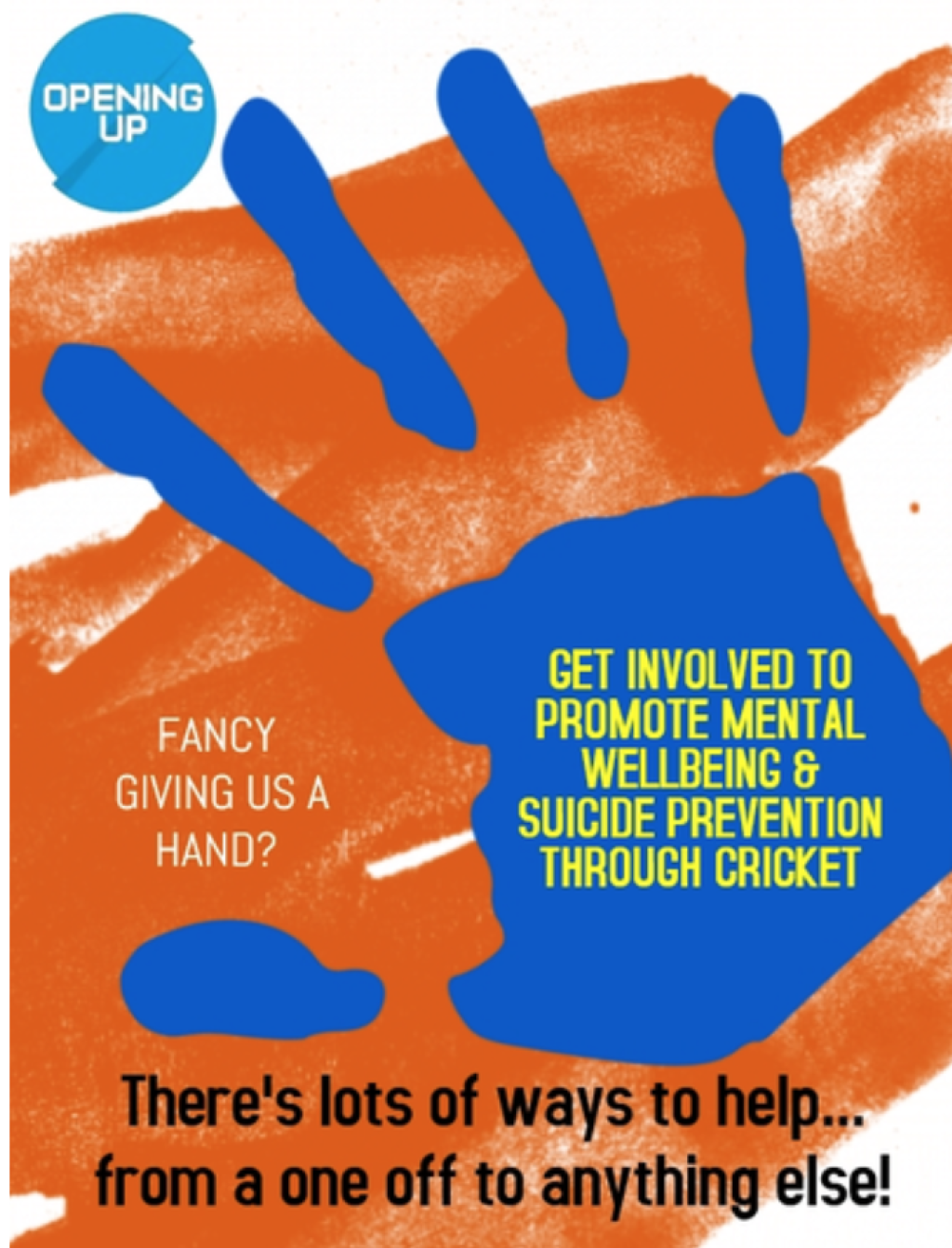 Thursday 6th June Opening Up Cricket promoting mental well being