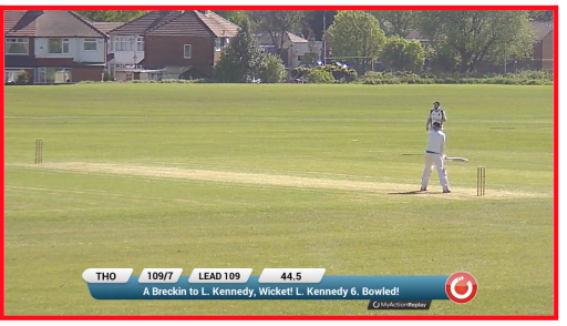 Alex Breckin takes 7 for 19 in the win against Thornham