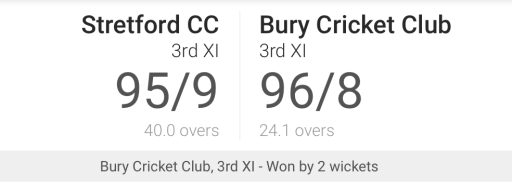 3rd XI move into last 8 of the cup with tense win over Stretford