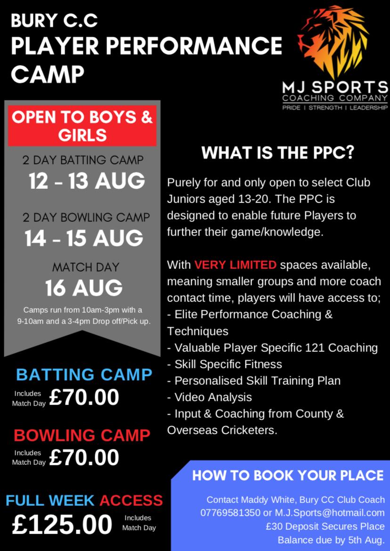 Player Performance Camp
