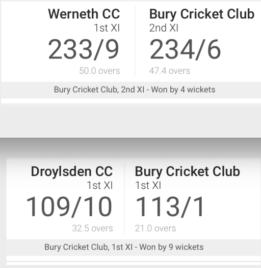 Wins for both the 1sts and 2nds this weekend
