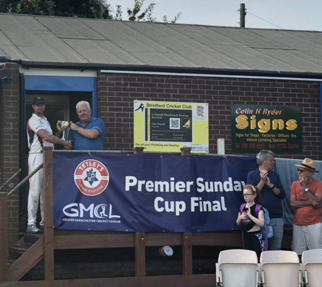 Bury 3rd XI win the Sunday Premier Cup at Stretford