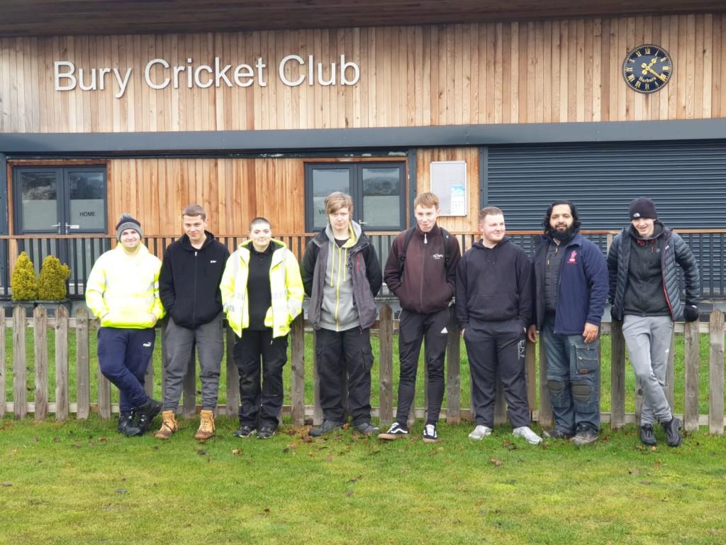 Bury College & VIY extend new fencing